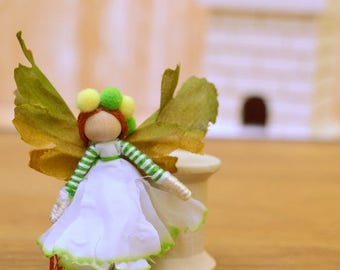 Miniature Fairy Doll - miniature fairies, flower fairy doll, flower fairies, waldorf fairy doll, waldorf fairies, mini fairy doll