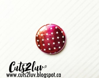 "Badge 1"" Étoiles métallique ombré summer***"