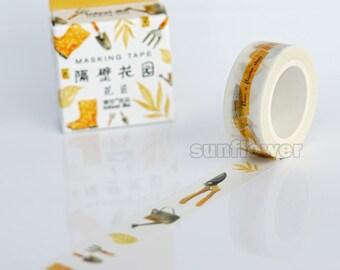 Garden Washi Tape,Masking Tape,Planner sticker,