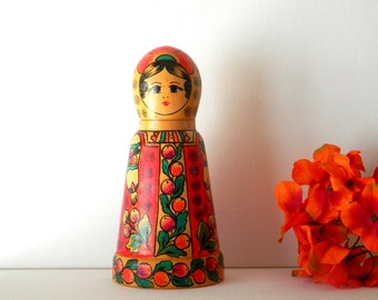 Russian Nesting Doll, Matryoshka, Babushka Doll, Wooden Trinklet Box