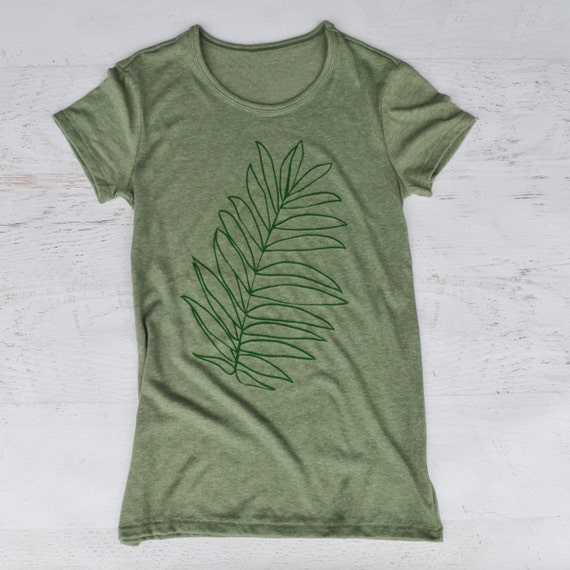 Palm Leaf Women's Tee - Green
