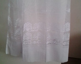 "NEW ITEM!  Vintage, sheer,embroidered curtain panels. Set of 3 panels. 59"" wide by 84"" long. Great condition."