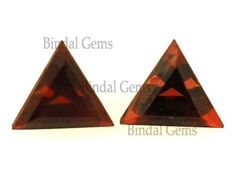 10 Pieces Amazing Lot AAA Quality Natural Garnet Triangle Shape Faceted Cut Loose Gemstone