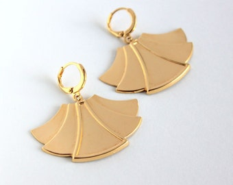 Rita earrings/ Gold plated/ Art Deco style/ Jewel for her/ Gatsby Collection/ Golden Twenties