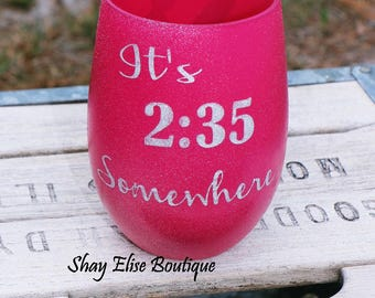 Sparkle Wine Glass Teacher Gift
