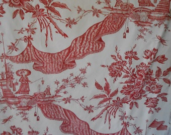 "Superb Vintage Clarence House French Chinoiserie Fabric  ""DRAPERIE"" 2.5 yards"