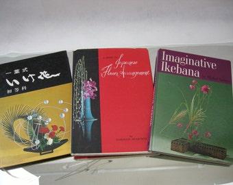 Ikebana Japanese Flower Arrangement 3 Vintage Books Imaginative 2  Meikof Kasuya, 1 Norman Sparnon,
