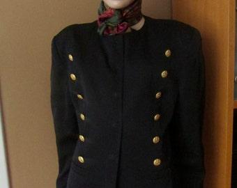 Vintage Mondi jacket.Navy-blue jacket with gold buttons.