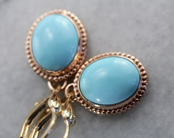 Turquoise Emma Earrings by Elizabeth Henry YT15RK-N