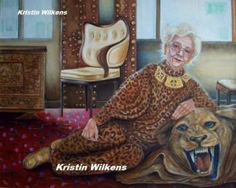 Cat Woman - Digital Download of Portrait of a Sassy Gram with a Cat Fetish