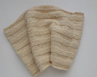Cream Cotton Cowl No Wool Neckwarmer Gift Idea Ready to Ship