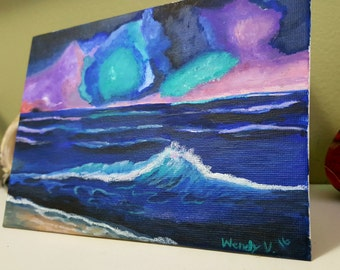 Galaxy Ocean-7x5 Original Acrylic Painting