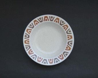 Set (4) Metlox / Poppytrail Luau Rimmed Soup Bowls - Bob Allen + Mel Shaw, Metlox 1959 HTF