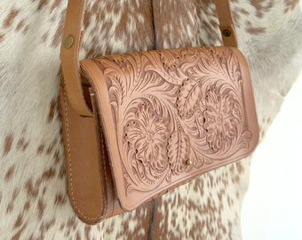 Sheridan Style Tooled Leather Bag