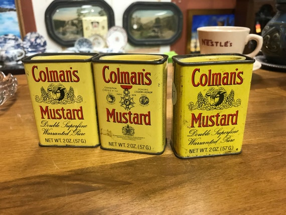 Vintage spice tins Colman's Mustard