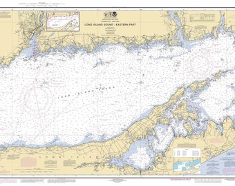 Long Island Sound - Eastern Part -  2014 Nautical Map Connecticut - New York Reprint 80000 AT 12354