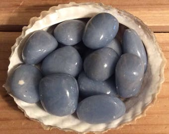 Angelite Healing Stone, Stone of Awareness, Angelic Stone, Peace and Brotherhood, Small Size ,Spiritual Stone, Meditation, Tumbled stone