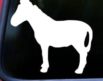 "DONKEY Vinyl Decal Sticker 5"" x 5.25"" Farm Barnyard Animal Jackass Burro Mule *Free Shipping*"