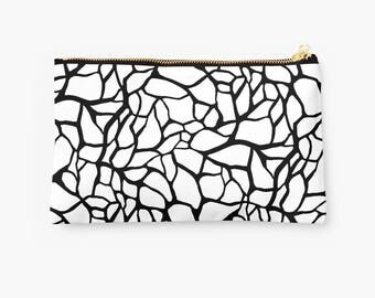 Cosmetic Bag - Black and  White