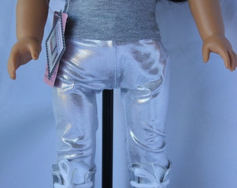 Silver Liquid Knit and Butterfly Legging Set