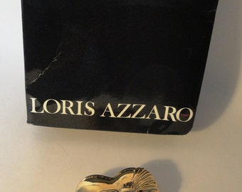 Vintage Loris Azzaro brooche gold plated
