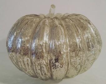 Mercury Glass Pumpkin