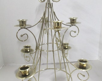 K Vintage gold wire Candelabra tree 9 cups fair condition Used