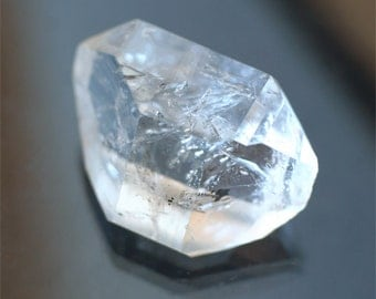 large herkimer diamond crystal 16 carat double terminated clear quartz crystal point mineral specimen meditation palm stone wirewrap supply
