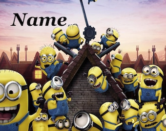 Personalised A3 / A4 Jigsaw / Puzzle - Minions - Style 3 - Own Wording on Jigsaw 30/60/96/120/150/221 pieces