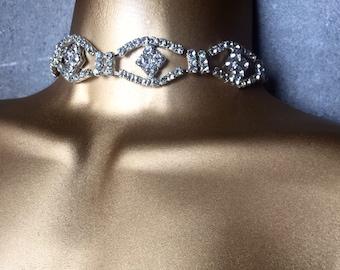 Divine Diamond Choker - Crystal Choker - Luxe Jewelry