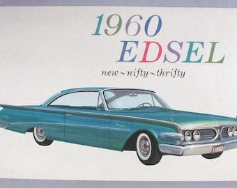 1960 Edsel Color Sales Folder Brochure Catalog Rangers & Villagers Near - Mint!