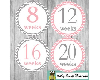 Pregnancy Stickers, Baby Milestone Stickers, Maternity Stickers, Pregnancy Gift, Baby Bump Stickers