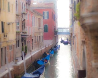 Venice, Italy, Ethereal Side Streets, Gondolas, Colored Houses, Venice Photography