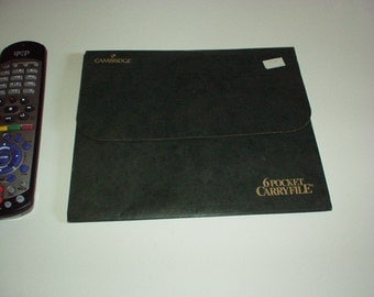 Vintage 1995 CAMBRIDGE 6-Pocket CARRY FILE #35204 By Mead Corporation - Like New, Rare, very Handy