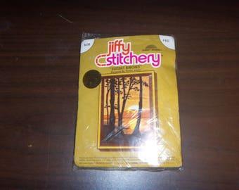 """New Jiffy Stitchery """"Sunset Birches"""" Kit"""