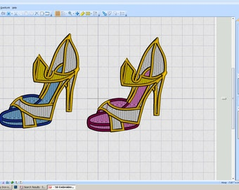 Embroidery Iron-on Patch - Sleeping Beauty shoe