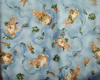 Bunny 100%Cotton Quilting Fabric by Red Rooster