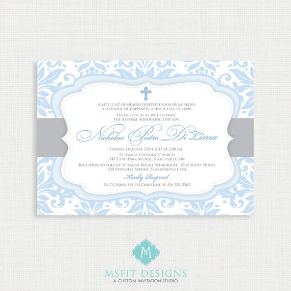 Printable baptism invitation boys baptism invitation baby printable baptism invitation boys baptism invitation baby dedication first communion confirmation christening printable template stopboris Images