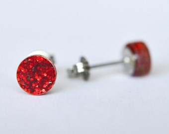 Glitter Dot Tiny Stud Earrings