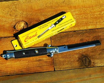 Vintage Switchblade Comb