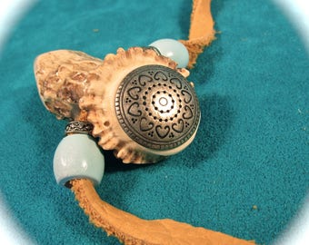 Pendant - Antler - stag neck wear - Art Deco - Native American Indian