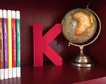 "Letter ""K"" Monogram Book ~ Bookshelf Decor ~ Great gift idea!"