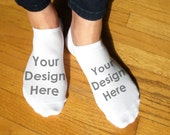Your Design Custom Printed on Women's No Show Socks