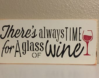 """Wine Sign/ Painted Wood/ Home Decor/ 6"""" x12""""/ Ready to ship"""