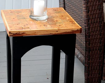 Handcrafted sidetable or plantstand