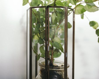 Vintage Glass Candle Holder / Terrarium