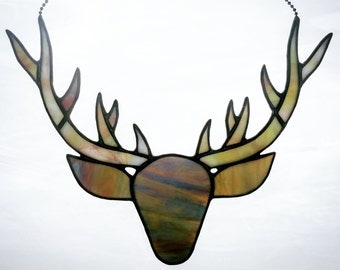 Small Stained Glass Deer Antler in Custom Colors