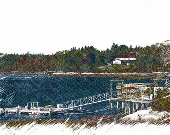 Boat Dock, Bar Harbor, Maine