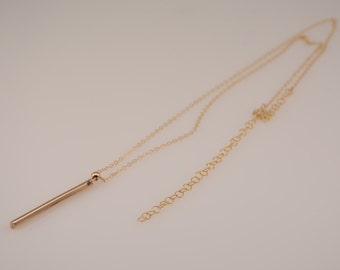 Lariat gold necklace. Lariat long necklace. Lariat adjustable necklace
