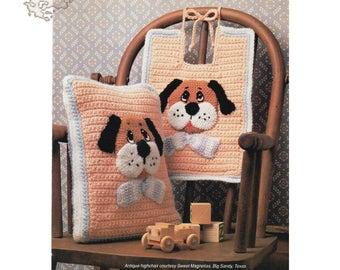 Crochet Pattern | Crochet Baby Pillow Pattern | Crochet Baby Bib | Bib Pattern | Accent Pillow | Decorative Pillow | Vintage pattern